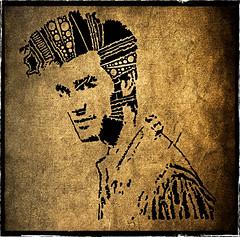 Portrait (AntonKuznetsov) Tags: original portrait musician woman brown white abstract man black art smile face tattoo pen james sketch gun shot head picture bob style prints che marley guevara telethon