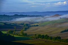 Fog in Tuscan country (EXPLORE) (Antonio Cinotti ) Tags: italy fog landscape nikon italia day country hills explore campagna tuscany toscana tamron colline cretesenesi asciano abigfave d7100 vescona nikond7100