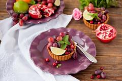 Tart with fruits and berries (kachergina) Tags: life food still berry tart grape fruiets kachergina