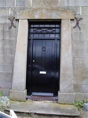 Unusual stone doorway on 1830s house in Tasmania. It looks slightly Egyptian in style. (denisbin) Tags: door architecture entrance richmond doorway tasmania egyptia egyptianstyle