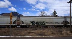 (Emptiness Of Light) Tags: art train graffiti colorado south fork co freight 2010 crue benching derok eltx