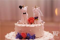 Unicorns Wedding Cake Photo (HeartshapedCreations) Tags: wedding orange white cute animal groom bride couple veil handmade donkey lei figure customized hippo bouquet caketopper figurine eeyore personalized weddingcaketopper weddingdecor
