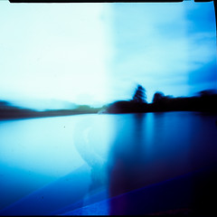 Pinhole Velvia 100-12 (Raglansurf) Tags: 120 film thames mediumformat fuji pinhole velvia mf barge narrowboat zeroimage viewfromatrainwindow
