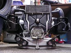 Citroen 2cv6 602cc engine (C.Elston) Tags: starter citroen engine points oil 2cv clutch motor cooler pistons exhaust rebuild 602 breather rebuilt carb condenser manifold 2cv6 602cc