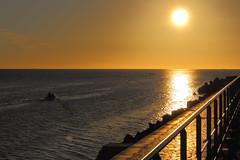 Matin (Amanclos) Tags: morning lighthouse france weather port sunrise la soleil day good clear aude phare nouvelle jetée matin pharedeportlanouvelle