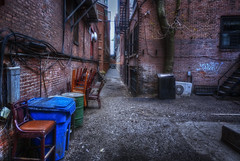 Alley in the South End, Boston (Michael Coyne) Tags: boston alley southend hdr bostonist postprocessing