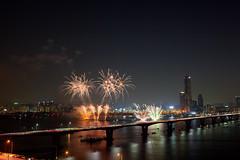 2011 Seoul Festival  (1iSK) Tags: city bridge sky festival night buildings river landscape lights asia cityscape korea seoul nightview southkorea  hanriver     63building   1i 63