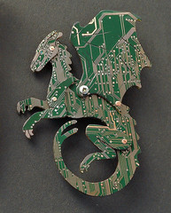 pern dragn (the Blue Kraken) Tags: pin technology dragon contemporary brooch jewelry lizard fantasy winged circuit cyberpunk pern dragonrider ecofriendly steampunk sustainableliving pcbs upcycled thebluekraken thebluekrakencircuitboard circuitdragon circuitboarddragon