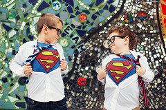 Superman Brothers (Atikh Bana) Tags: family cute happy mural holidays colorful brothers vibrant handsome tie grand superman rapids shirts