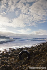 Tyre (DMeadows) Tags: cloud mist lake seaweed reflection water rock fog stone rural reflections landscape coast scotland countryside rocks stones country coastal loch tyre fyne inveraray sealoch davidmeadows dmeadows davidameadows dameadows