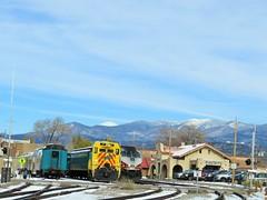 Winter at the Station (Patricia Henschen) Tags: railroad newmexico santafe depot railyard railroadstation railrunner santafesouthernrailway
