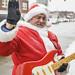 Axe-wielding Santa