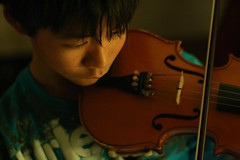 Violinist (apathykathy) Tags: boy music violin bow orchestra strings focused violinist concentrated inthezone needsahaircut