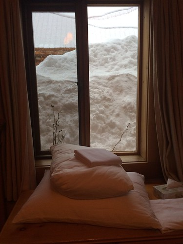 Die Schneemassen nähern sich
