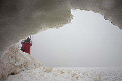caved (local paparazzi (isthmusportrait.com)) Tags: red lighthouse house lake snow cold texture tourism ice home outdoors frozen interesting nikon bright cloudy michigan unique interior secret horizon border gray perspective hard smooth deep freezing overcast tourist dirty lakemichigan greatlakes indoors boulders edge collapse housing chilly cave safe manual rough icy fullframe nikkor hiding rim icehouse cavern slippery sturdy overhang subzero hidingplace isitsafe topsecret deepfreeze 2014 openwater fellin snowpack cavedin southhavenlighthouse vanburencountymichigan photoshopelements7 puremichigan canon5dmarkii pse7 localpaparazzi redskyrocketman nikon18mm35ais michiganlighthousetrip2014