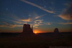 "Moonrise between the Mittens (IronRodArt - Royce Bair (""Star Shooter"")) Tags: nightphotography arizona stars utah nightscape moonrise monumentvalley mittens monumentvalleynavajotribalpark westmitten wondersofnature eastmitten starrynightsky"