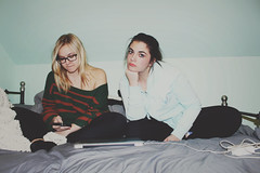 (carleigh~) Tags: pictures life winter girls friends light red party love nature beautiful vintage fun happy photography glasses cozy bed phone natural grunge hipster makeup blonde teenager bestfriends comfy brownhair tumblr