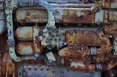 Chug (MPnormaleye) Tags: urban macro abandoned rural 35mm junk rust mechanical decay memories machine machinery transportation transit utata weathered deserted utata:project=rusted