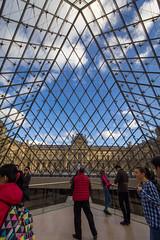 Glass Pyramid (haz_fenrir15) Tags: sky paris france glass museum clouds canon pyramid louvre 60d