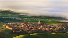 Lamasery morning mist (James Yu Photography) Tags: mist fog sunrise tibet sichuan lamasery jamesphotography