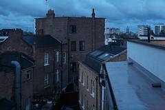 The end of a Houston night (Gary Kinsman) Tags: morning blue london skyline dawn cityscape view kentishtown nw5 2013 fujix100 fujifilmfinepixx100 tallyhoapartments