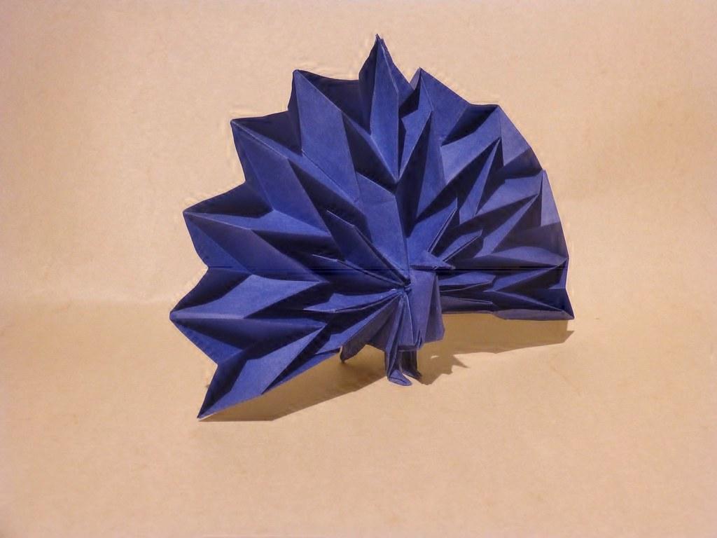 Peacock Small Version By Jun Maekawa Thomas Krapf Origami Tags Bird