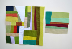 Just a few blocks. (Jayne ~ Twiggy & Opal) Tags: abstract modern quilt solids blocks patchwork improvblock