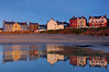 View from the beach.. (John Ibbotson (catching up!)) Tags: houses reflection beach water wales reflections coast seaside ceredigion borth