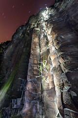 Couples Night Climb (El Shooterino) Tags: longexposure light sky cliff rock night canon stars climb couple long exposure rope boulder idaho boise climbing 5d 1740 fianc fiance f4l 1745mm