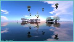 Paradiso (Tim Deschanel) Tags: life color tree forest landscape tim ile sl reflet reflect second paysage exploration magical isle arbre couleur paradiso deschanel