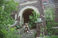 (yyellowbird) Tags: school selfportrait abandoned girl northdakota cari
