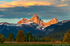 The Bright Side of Things (James Neeley) Tags: sunset mountains landscape idaho westside grandtetons tetons tetonvalley jamesneeley