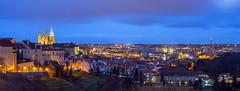 Prague Skyline Panorama (FH | Photography) Tags: city panorama skyline prague capital hauptstadt wolken prag tschechien tschechischerepublik hradschin stadt czechrepublic cz wetter burg abends blauestunde dcher vonoben veithdom