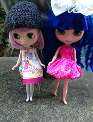 girls are showing off their dresses!