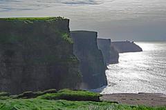 Backlit Cliffs (jameskirchner15) Tags: cliff limestone ireland countyclare lowercarboniferous scene landform landscape backlit ocean water