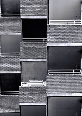 Building Abstract # 58 (Joseph Pearson Images) Tags: abstract building architecture london balcony mono bw blackandwhite