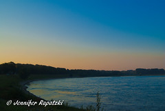 Blue-orange sky (Bernsteindrache7) Tags: summer sony alpha 100 color sky blue outdoor orange water flora fauna heaven himmel rhine dsseldorf germany nrw wasser