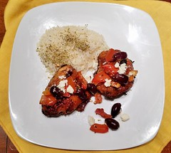 Mediterranean Chicken (cleanfreshcuisine) Tags: cleanfreshcuisine chicken sundaydinner mediterraneanfood sometimessavory tomatoes olives fetacheese oliveoil lemonjuice