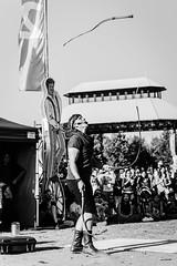 Buskerfest 2016 - Day 4 (afternoon) (MorboKat) Tags: toronto woodbinepark buskerfest busker busking streetperformer performer juggling juggler whip whipperformer whipjuggling monochrome sebwhipits circus circusperformer