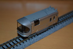 voiture extremite 1 Cassiopia B train (Thylacine Modlisme) Tags: bandai japan japon train marque brant pices pice roue chassie caisse  monter cassiopia nuit night car lit bed gray metalic gris mtalis bote box a b c 3 three trois made himself import importation n scale chelle model maquette motor motorisable locomotive locomotiv wagon