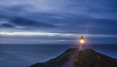 The Edge, New Zealand (Jaafar Alnasser Photography) Tags: nz new zealand paisaje night sky light raw nikon blue d7000 water sunset cape reinga lighthouse