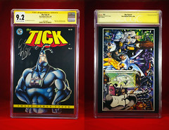TICK 1 CGC 9.2 AUTOGRAPHED 2016 FRONT AND BACK (vsndesigns) Tags: beta the tick vs arthur sentinel prime optimus successor townsend coleman lego minifig minifigure dcon 2014 ball mylar balloon buttons bonanza pencil indie shocker gbjr toys with tie and tshirt zombie in a steel box fox promotional totally kids magazine 45 club spoon taco bell meal commercial eli stone ben edlund little wooden boy comic book merchandise rare limited edition 80s 90s collector museum naked super hero heroine collection photo screen