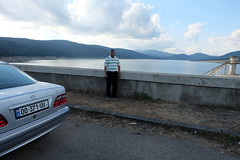My taxi driver insists on another shot before we leave (oldandsolo) Tags: georgia formerrussianterritory kakhetiregion sionilake sioniwaterreservoir touristspot freshwaterlake watersupply posing camwhoring selfie