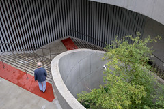 Stairs (scarletizm) Tags: stairs red grey gray spiral curves curve walk man shapes shape