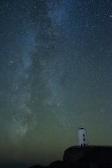 Llanddwyn Lighthouse (dilys_thompson) Tags: ngc milkyway llanddwynisland llanddwyn anglesey nightphotography night nightsky stars stargazing