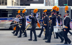 Chicago, 2016 (gregorywass) Tags: street chicago city marching band thanksgiving day parade orange november 2016