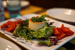 Baked Cheese! (peter_a_hopwood) Tags: cheese tomato basil italy venice food