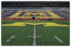 Big House - Ann Arbor, MI (gastwa) Tags: nikon df pce nikkor 24mm f35d ed tilt shift tiltshift perspective control a2 ann arbor annarbor michigan wide angle wideangle bighouse big house color university football sports travel urban city college andrew gastwirth andrewgastwirth full frame fullframe fx