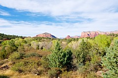 Red Rocks Country (Herculeus.) Tags: 2016 az bouldersstonerocks clouds desert diciduoustrees evergreens oct plants redrockcountry rockoutcrop scrub sedona sonorandesert trees castlerock bellrock courthousebutte