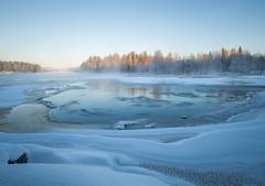 Kotelinkoski whirlpool, -24 dec C (Janne Herva) Tags: ice joki jää longexposure lumi pitkävaloitusaika river snow talvi vesi water winter